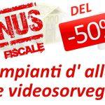 detrazioni fiscali per l'installazione di impianti di videosorveglianza
